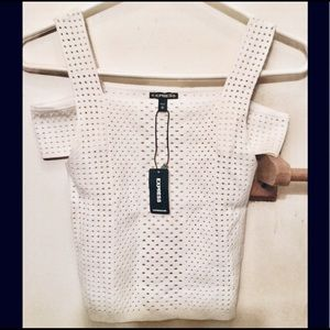 White Express Crop Top Knitted, size M